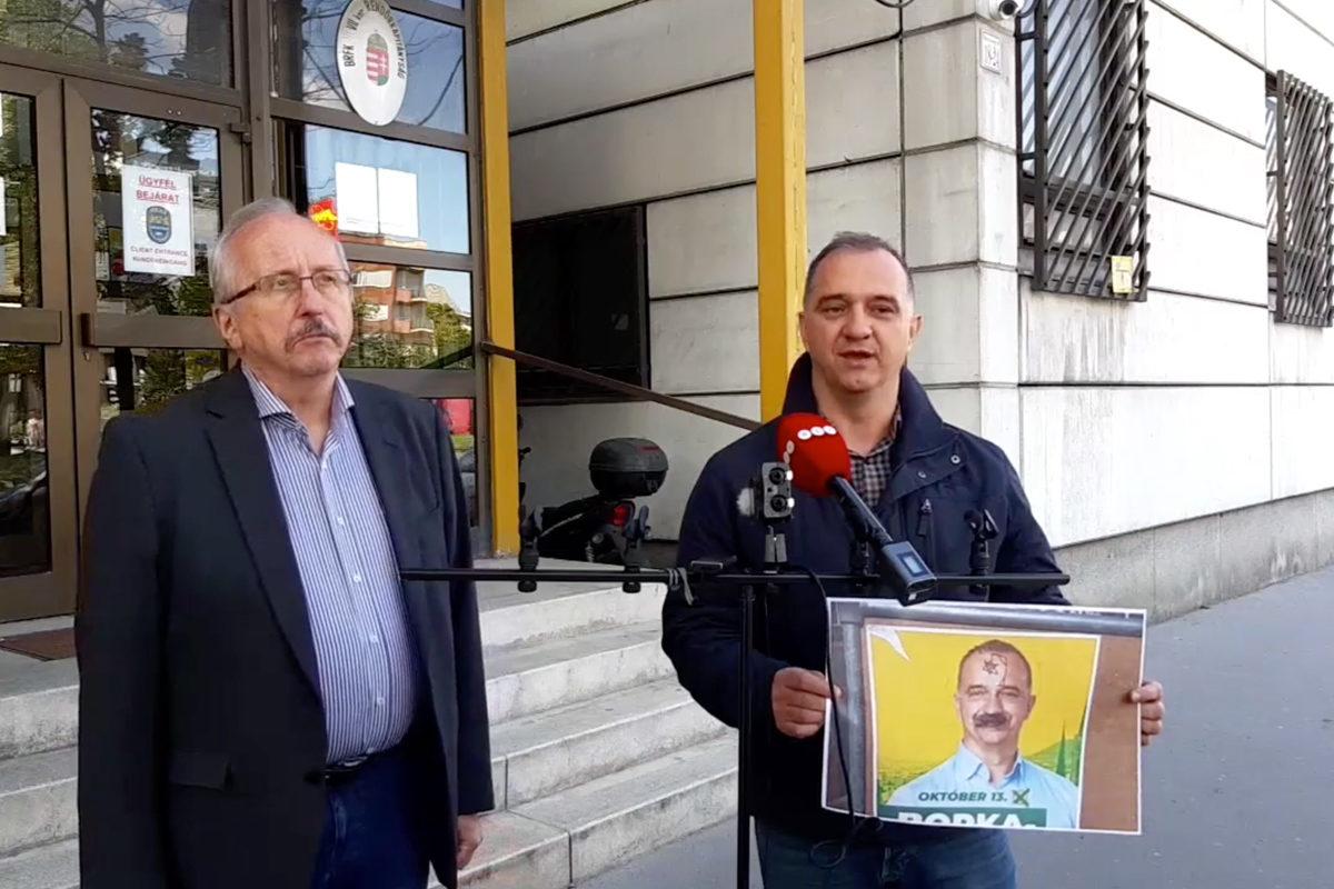 Felakasztott Dávid-csillagot rajzoltak egy ellenzéki plakátjára Erzsébetvárosban