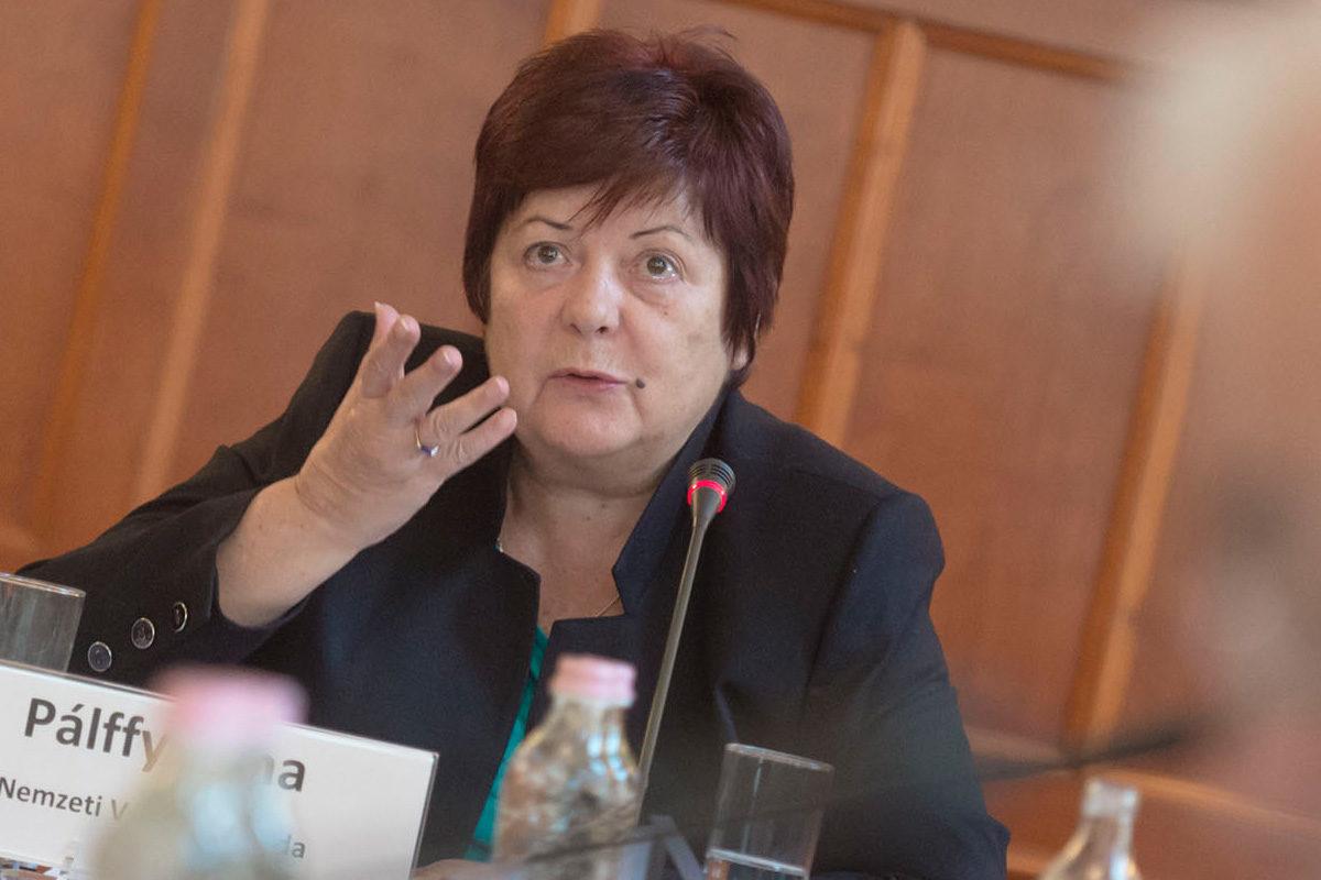Pálffy Ilona, a Nemzeti Választási Iroda elnöke.