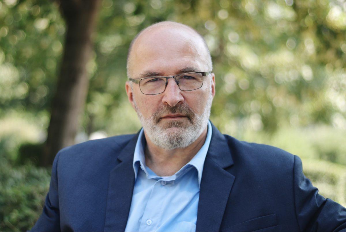 Pikó András, a VIII. kerület ellenzéki polgármesterjelöltje.