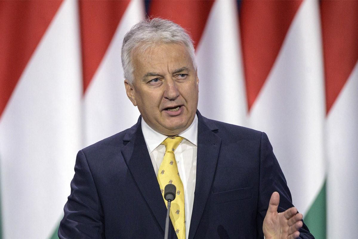 Semjén Zsolt miniszterelnök-helyettes beszédet mond a Fidesz tisztújító kongresszusán a BOK Sportcsarnokban, Budapesten 2019. szeptember 29-én.