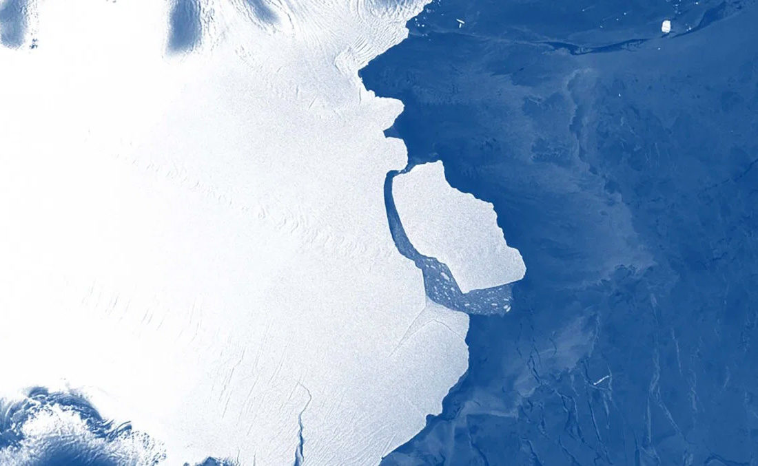 A D28 nevű leszakadt jégtömb.