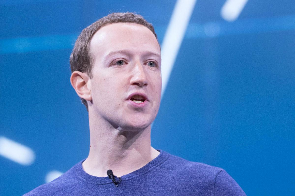 Mark Zuckerberg az F8 fejlesztői konferencián 2018-ban.