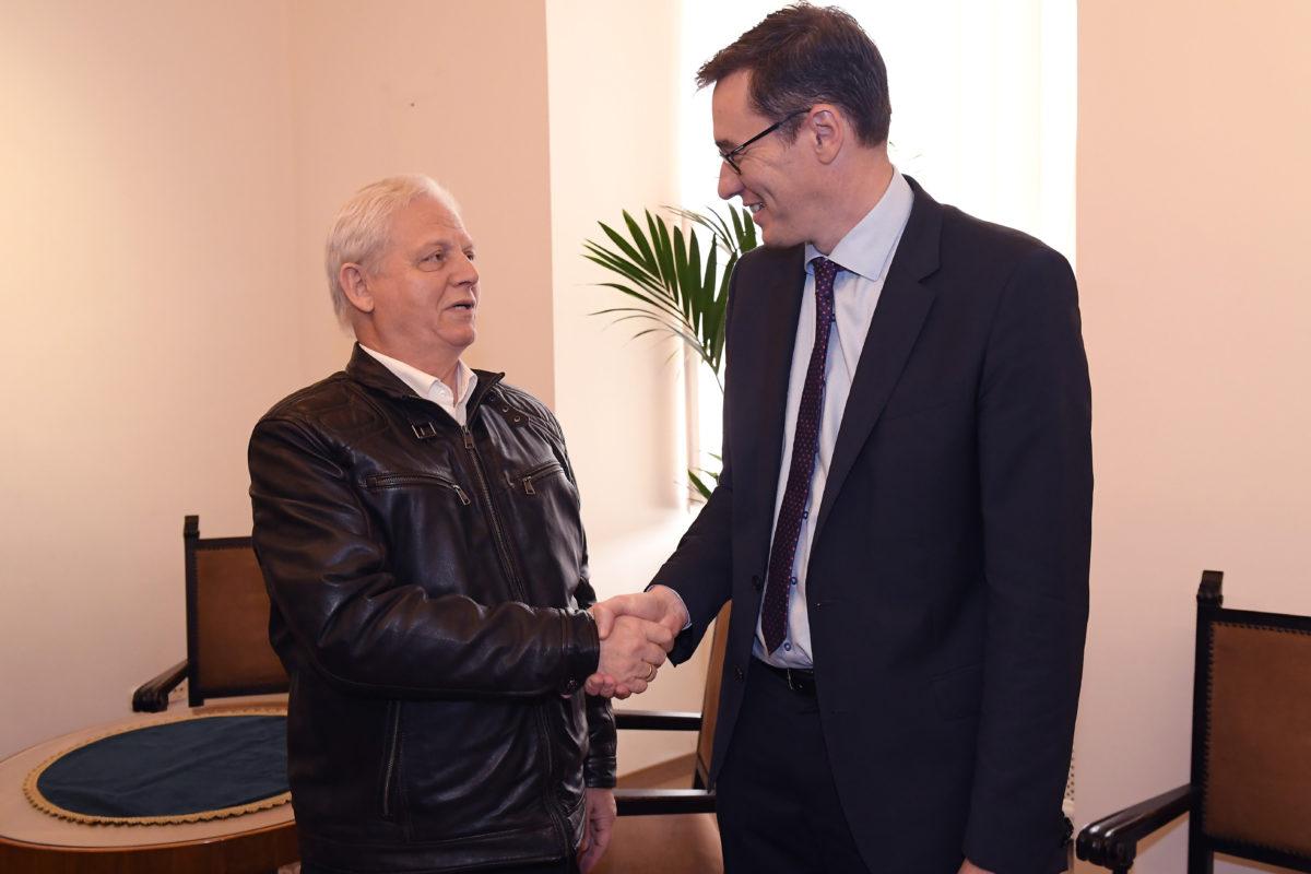 Karácsony Gergely megválasztott (j) és Tarlós István leköszönő főpolgármester a hivatal átadás-átvételén a Városházán 2019. október 17-én.