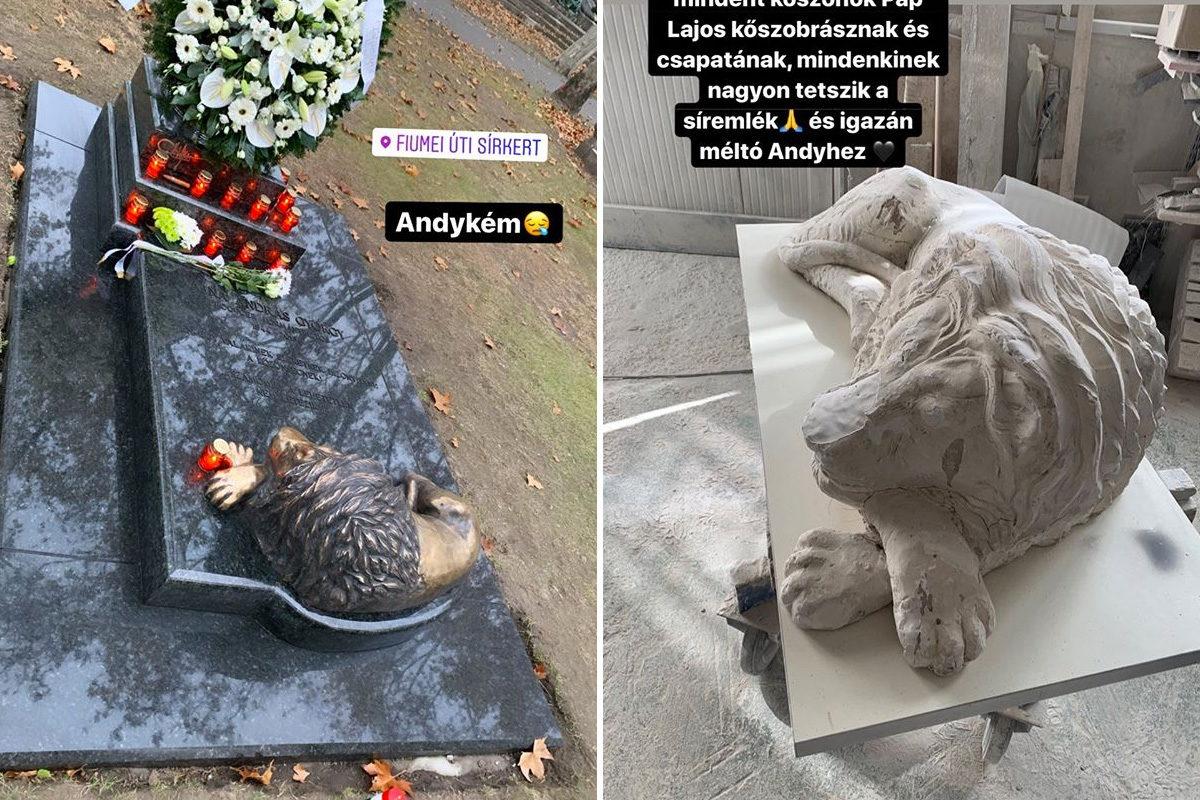 Készül Andy Vajna síremléke, bronz oroszlán is lesz rajta