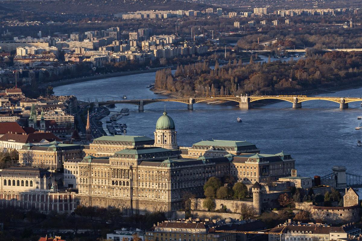 A Duna belvárosi szakasza 2019. november 18-án.