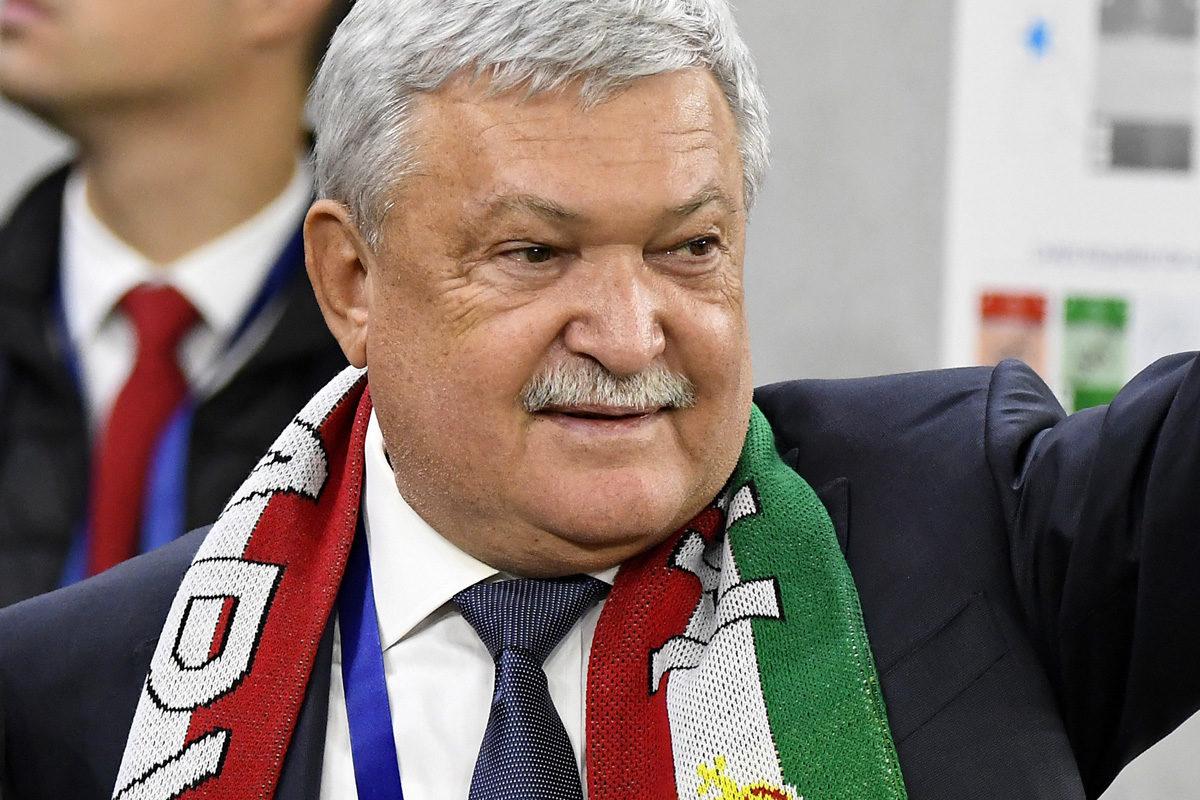 Csányi Sándor, a Magyar Labdarúgó Szövetség (MLSZ) elnöke a Puskás Aréna nyitóünnepségén 2019. november 15-én.