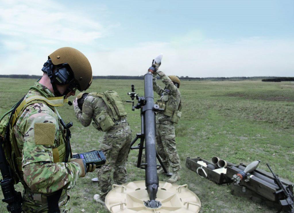 A Hirtenberger Defence Systems egyik terméke működés közben.