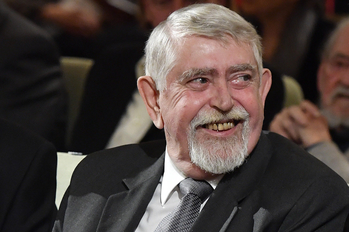 Kásler Miklós, az emberi erőforrások minisztere a Nemzet Művésze díj átadóünnepségén a Pesti Vigadóban 2019. november 5-én.