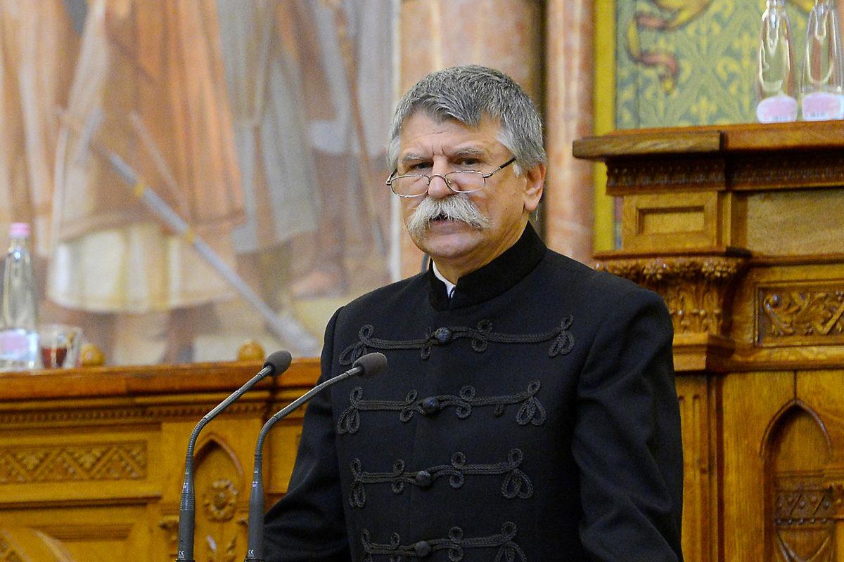 Kövér László, az Országgyűlés elnöke beszédet mond a kereszténydemokrácia 75 éves magyarországi fennállását ünneplő tanácskozáson az Országházban 2019. október 31-én.