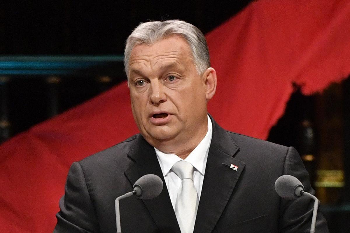 Orbán Viktor beszédet mond az 1956-os forradalom és szabadságharc 63. évfordulóján rendezett díszünnepségen a Zeneakadémián 2019. október 23-án.