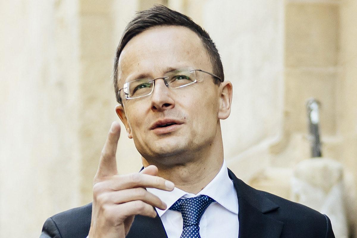 Szijjártó Péter külgazdasági és külügyminiszter Vallettában 2019. november 20-án.