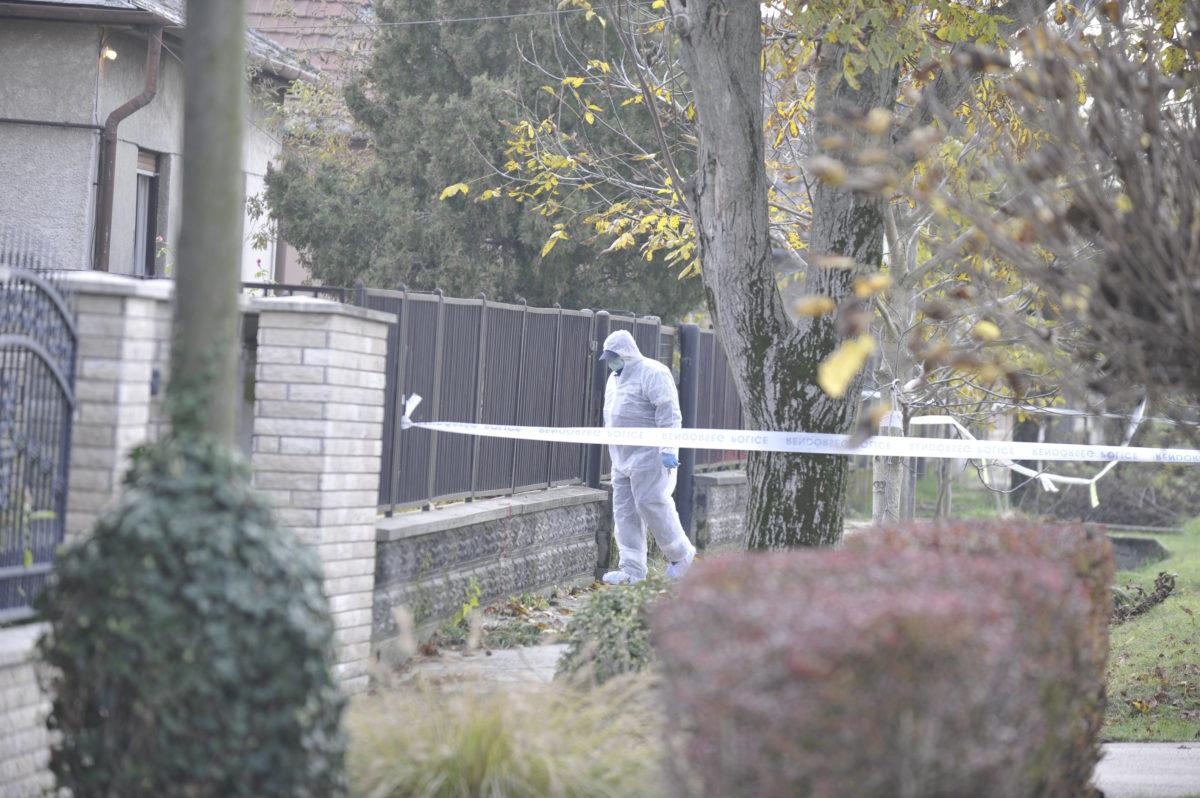 Bűnügyi helyszínelő 2019. november 8-án a Pest megyei Tárnokon, ahol megölte élettársát egy férfi. A gyanúsított feladta magát.