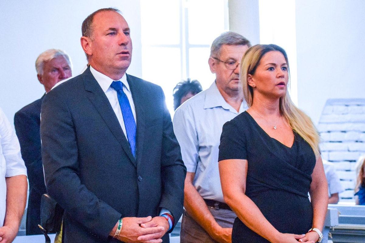 Boldog István fideszes országgyűlési képviselő és jobbkeze, Fehér Petra korábbi fidelitasos politikus 2019. augusztus 20-án.