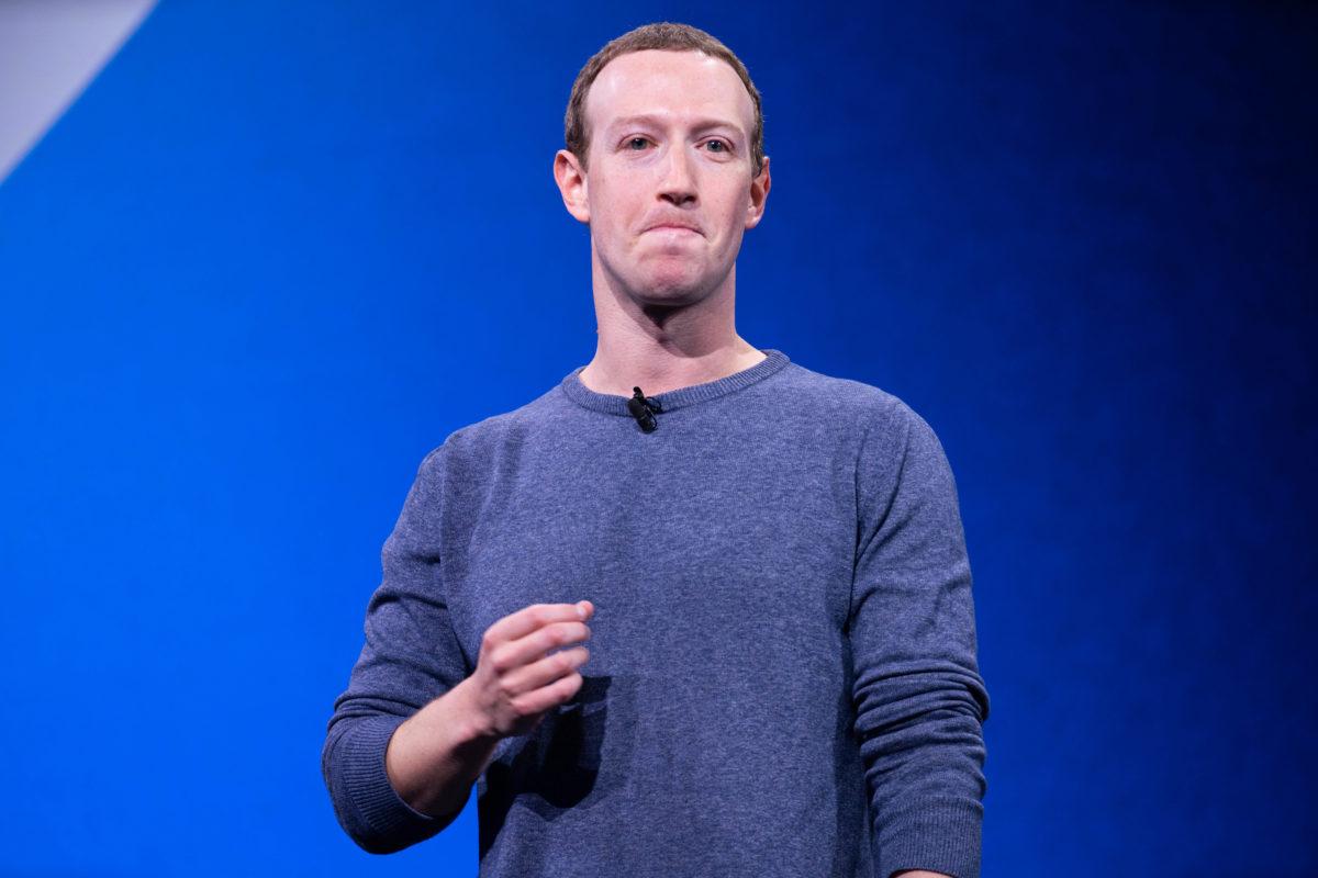 Mark Zuckerberg, a Facebook alapítója beszédet tart a 2019-es F8 fejlesztői konferencián.