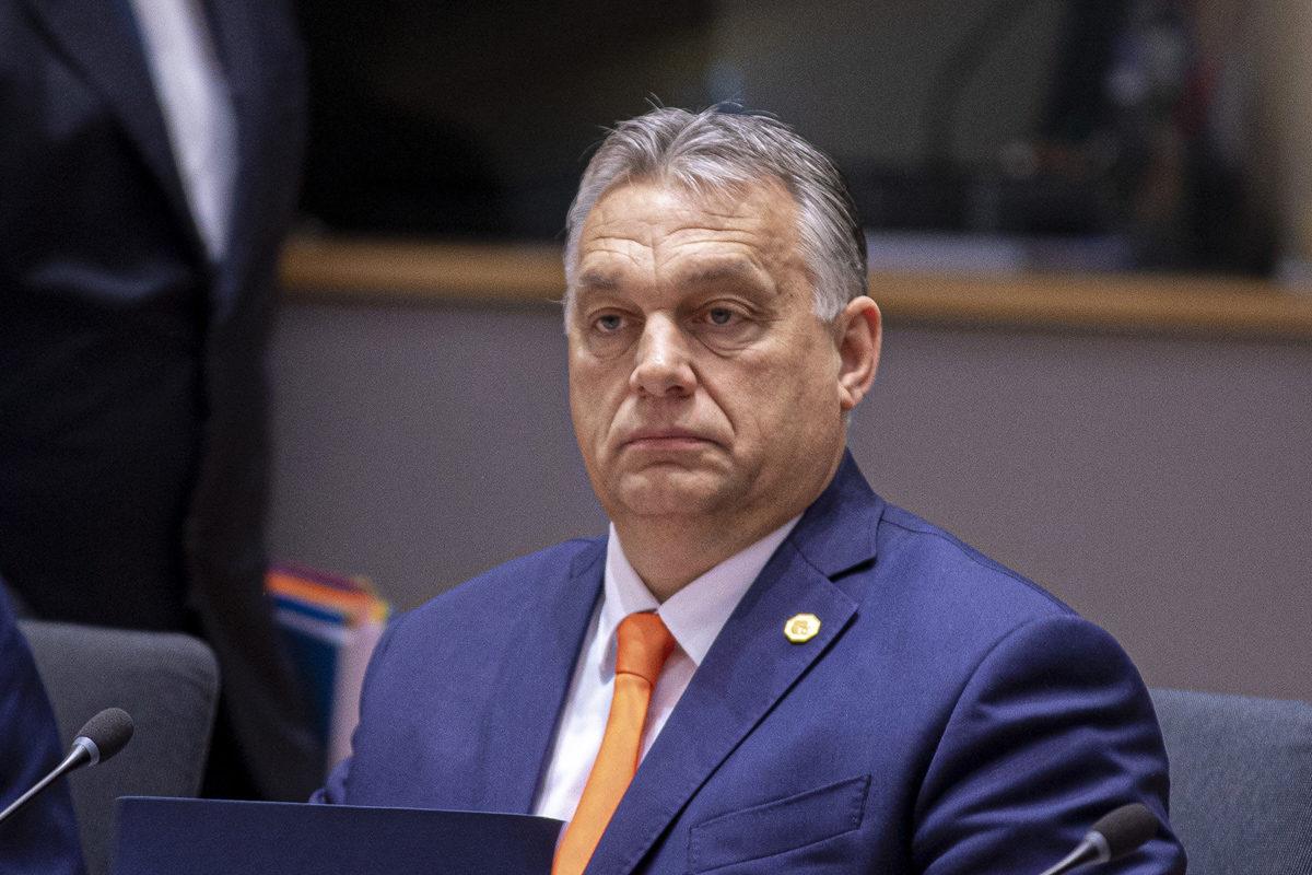 Orbán Viktor magyar az EU-tagországok állam- és kormányfői évzáró találkozóján Brüsszelben 2019. december 12-én.