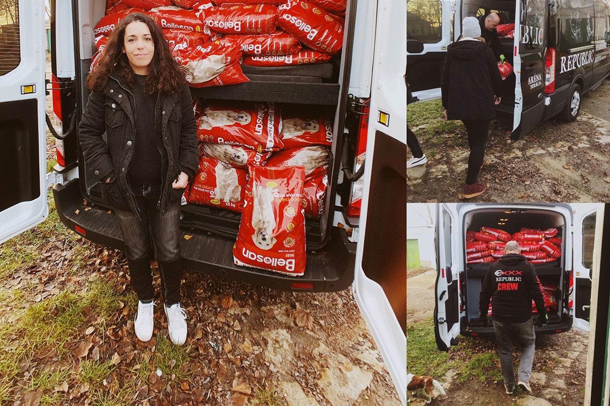 1 tonna ételt vett egy lány a saját pénzéből a paksi állatmenhelynek