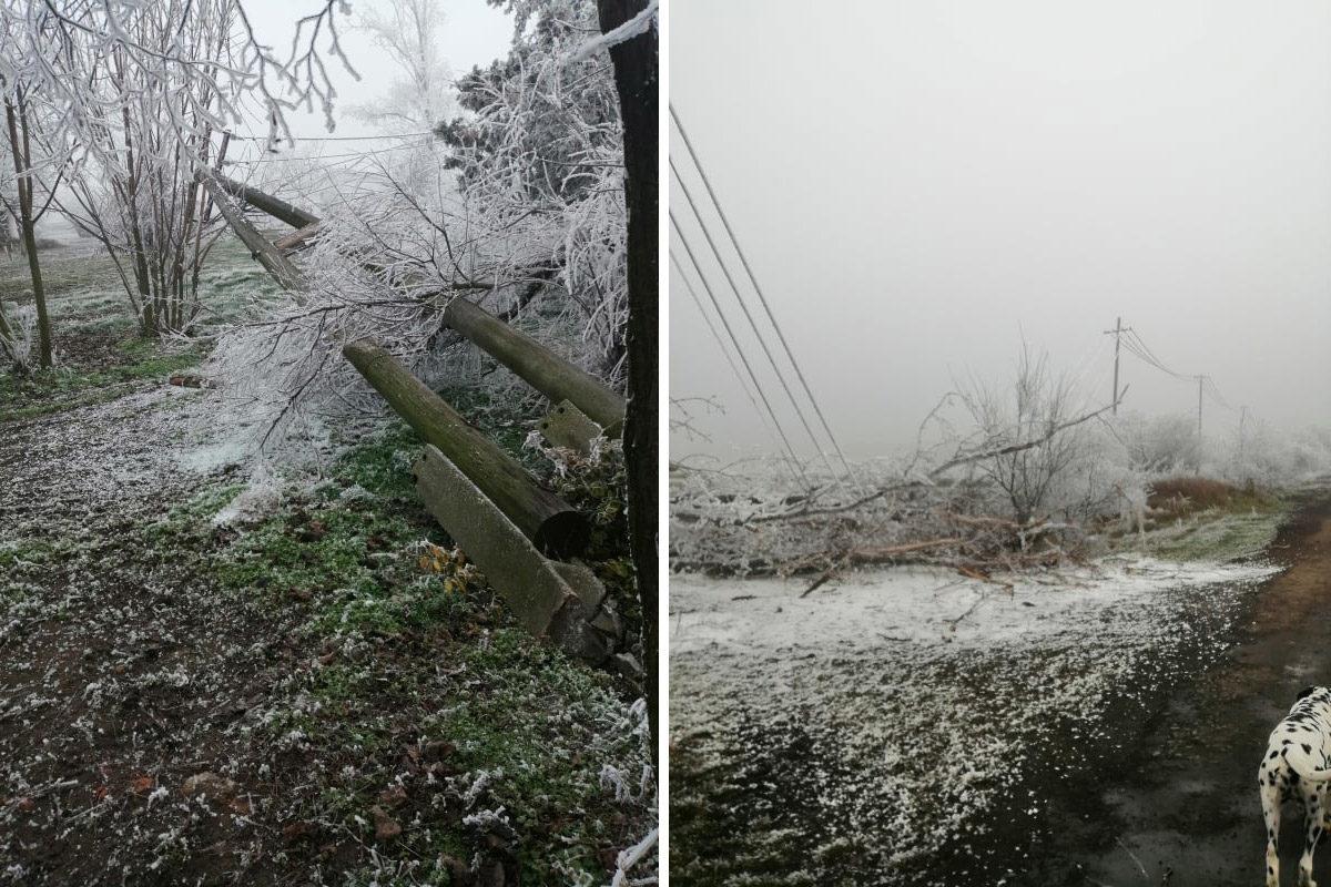 Összeomlott az áramhálózat több településen, Bács-Kiskunban a rendőröket is kivezényelték