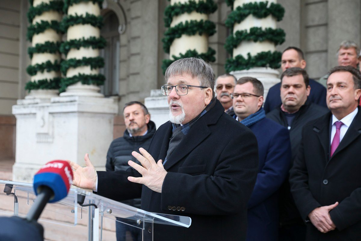 Dézsi Csaba András, a Fidesz-KDNP győri polgármesterjelöltje.