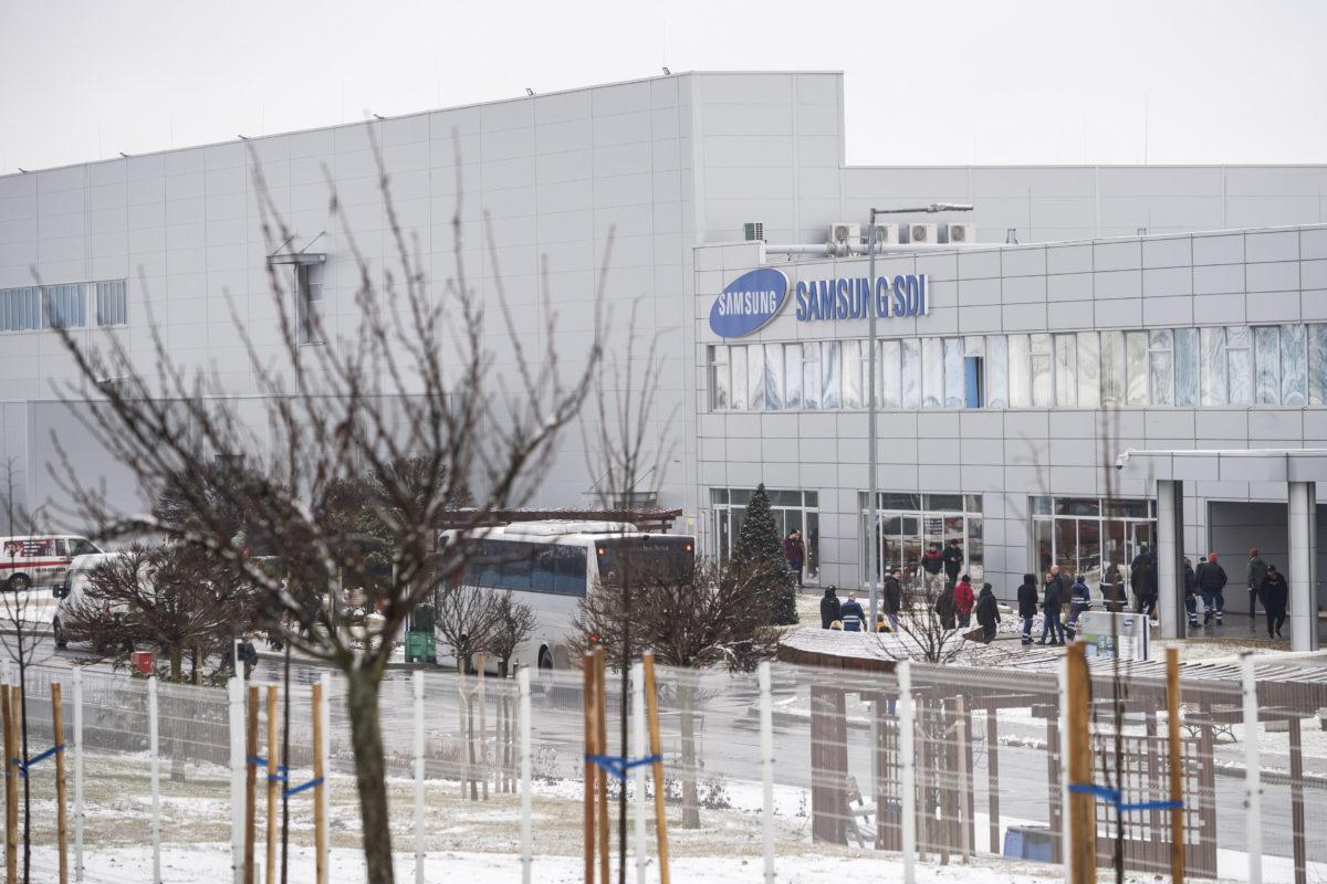 A gödi Samsung SDI gyár 2020. január 28-án.