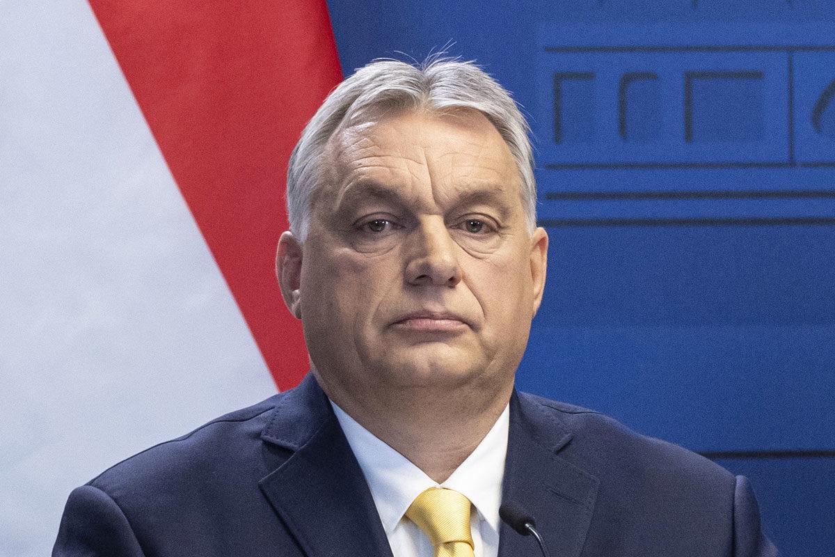Orbán Viktor miniszterelnök évindító nemzetközi sajtótájékoztatóján a Karmelita kolostorban 2020. január 9-én.