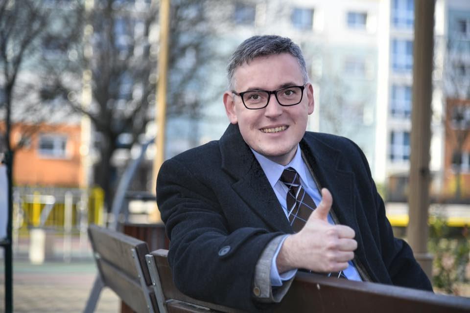 Pollreisz Balázs, a győri ellenzéki összefogás polgármesterjelöltje.