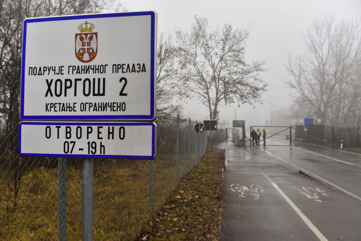 A lezárt a Horgos és Röszke közötti határátkelő 2020. január 28-án.