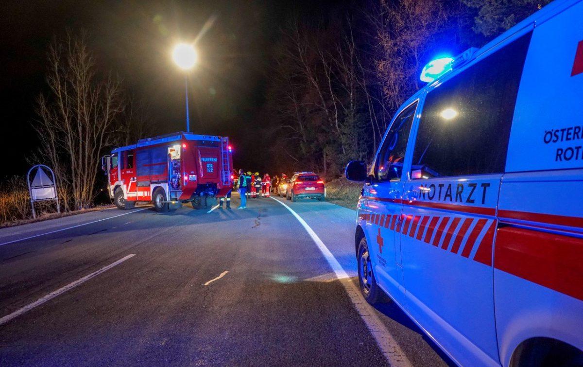 A halálos baleset helyszíne az ausztriai B54-es úton.