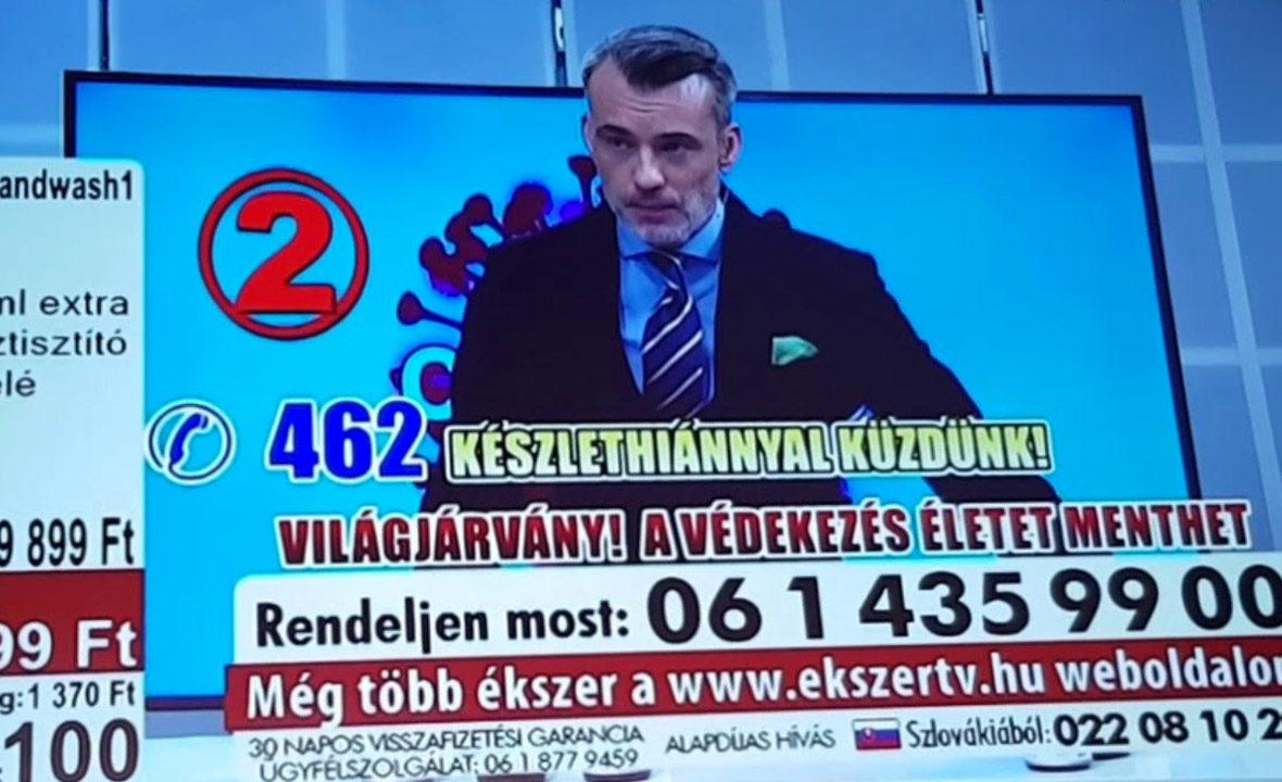 59 899 forintért hirdetett kézfertőtlenítőt az ATV-n egy betelefonálós műsor