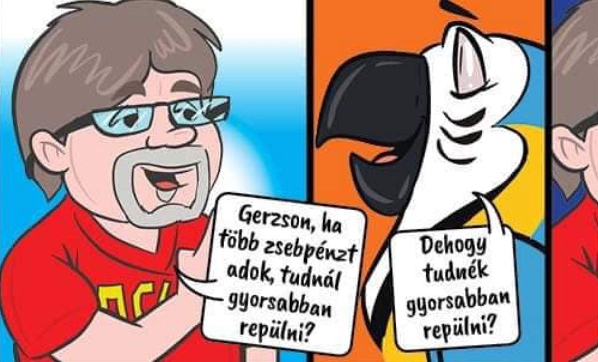 Képregényben üzent Győr fideszes polgármestere, hogy miért nem ad pénzt a focira