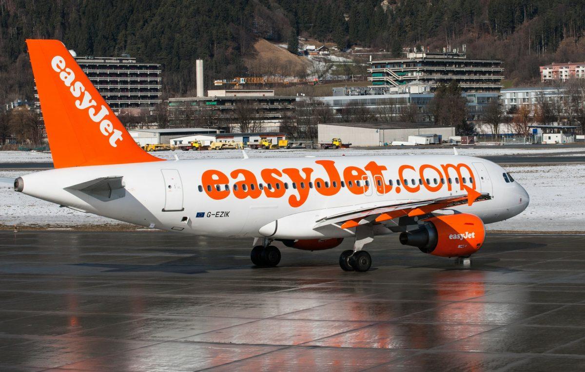Az Easyjet egyik Airbus A319-es gépe.