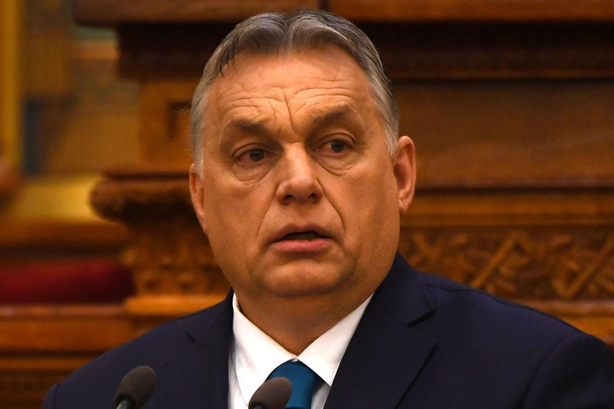 Orbán Viktor beszédet mond a fennállásának 100. évfordulóját ünneplő magyar rendőrség ünnepi állománygyűlésén az Országházban 2020. március 6-án.