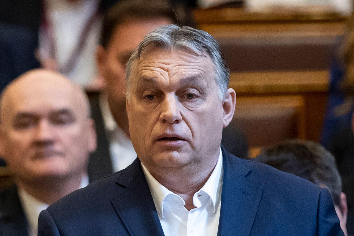 Orbán Viktor a parlament 2020. március 16-i ülésén.