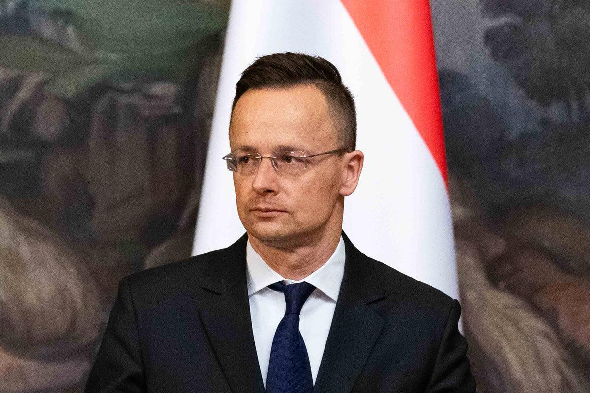 Szijjártó Péter külgazdasági és külügyminiszter Szergej Lavrov orosz külügyminiszterrel közösen tartott sajtótájékoztatóján Moszkvában 2020. március 18-án.
