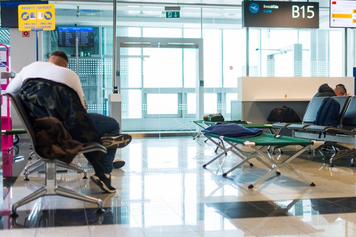 A Liszt Ferenc Nemzetközi Repülőtér Ferihegyen 2020. március végén.