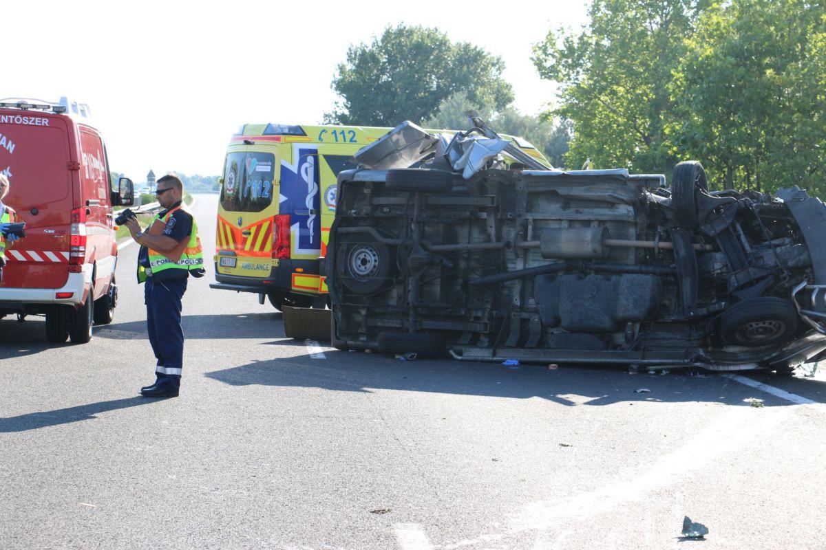 A baleset helyszíne a rendőrség fotóján.