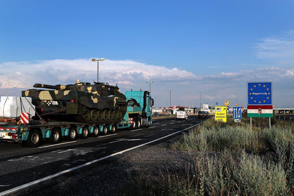 Megérkeztek a Honvédség első Leopárd-tankjai