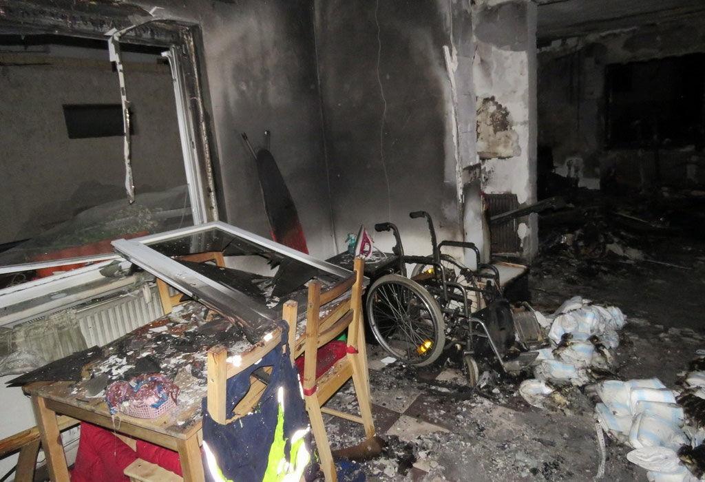 A kiégett mányi családi ház a rendőrség fotóján.