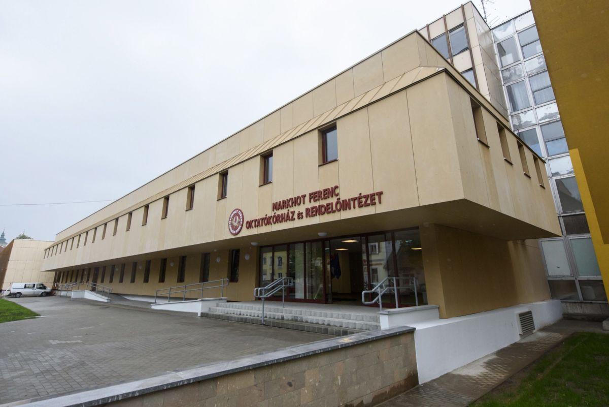 Az egri Markhot Ferenc Kórház 2017. május 8-án.