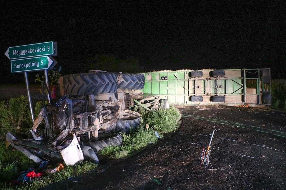 A baleset helyszíne a Vaol.hu fotóján.