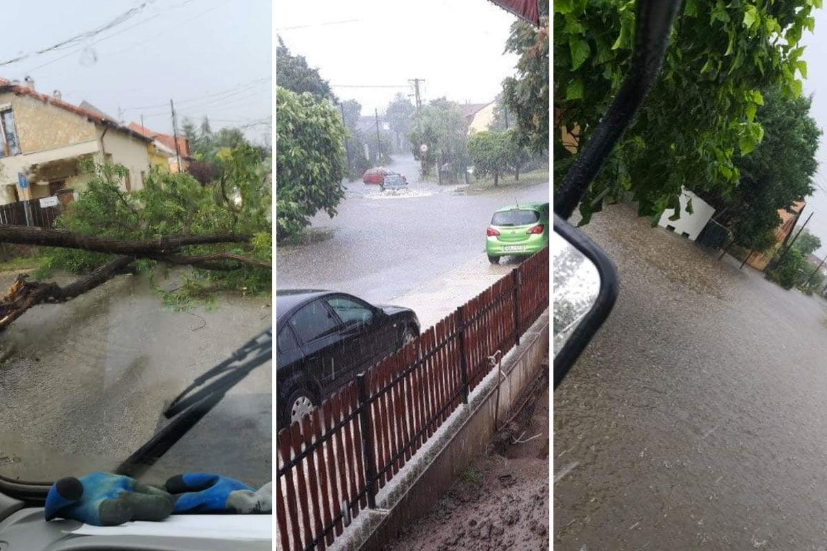 Elverte a vihar Budapestet, anyára és lányára dőlt egy fa