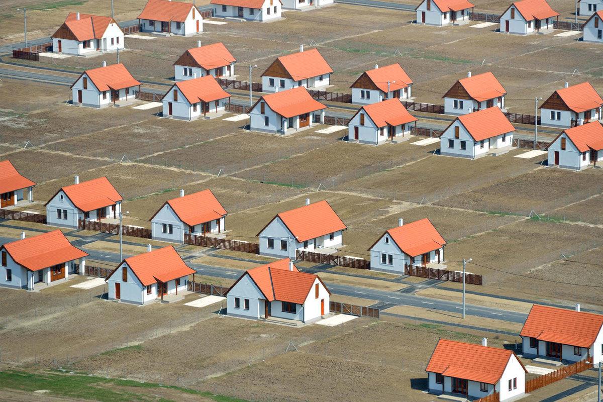 Az ócsai lakópark a levegőből 2013-ban.