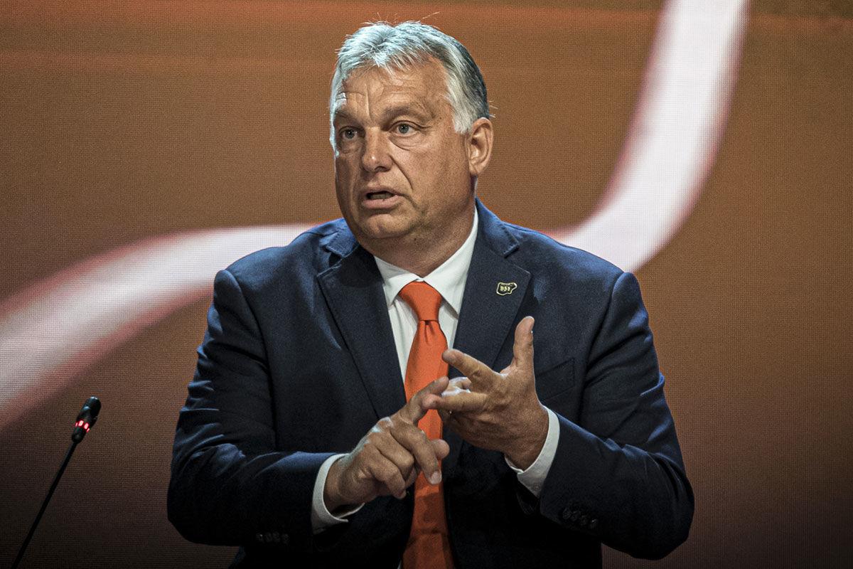 Orbán Viktor miniszterelnök beszél a 15. Bledi Stratégiai Fórum nemzetközi konferencián 2020. augusztus 31-én.