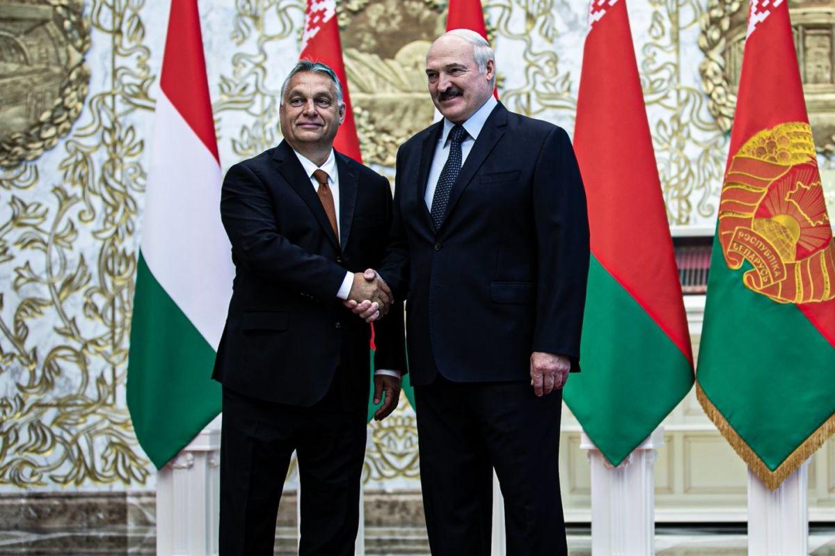Orbán Viktor és Aljakszandr Lukasenka 2020 júniusában Minszkben.