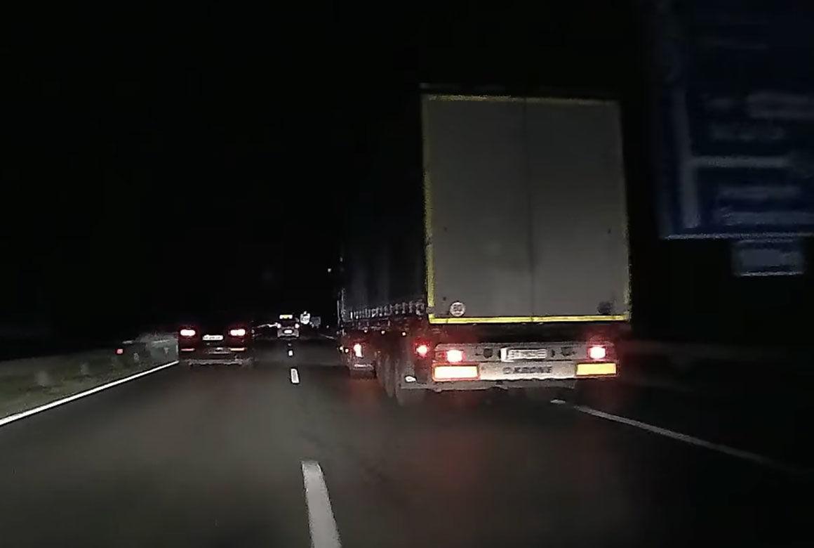 Részeg bolgár kamionost fogtak az M1-es autópályán