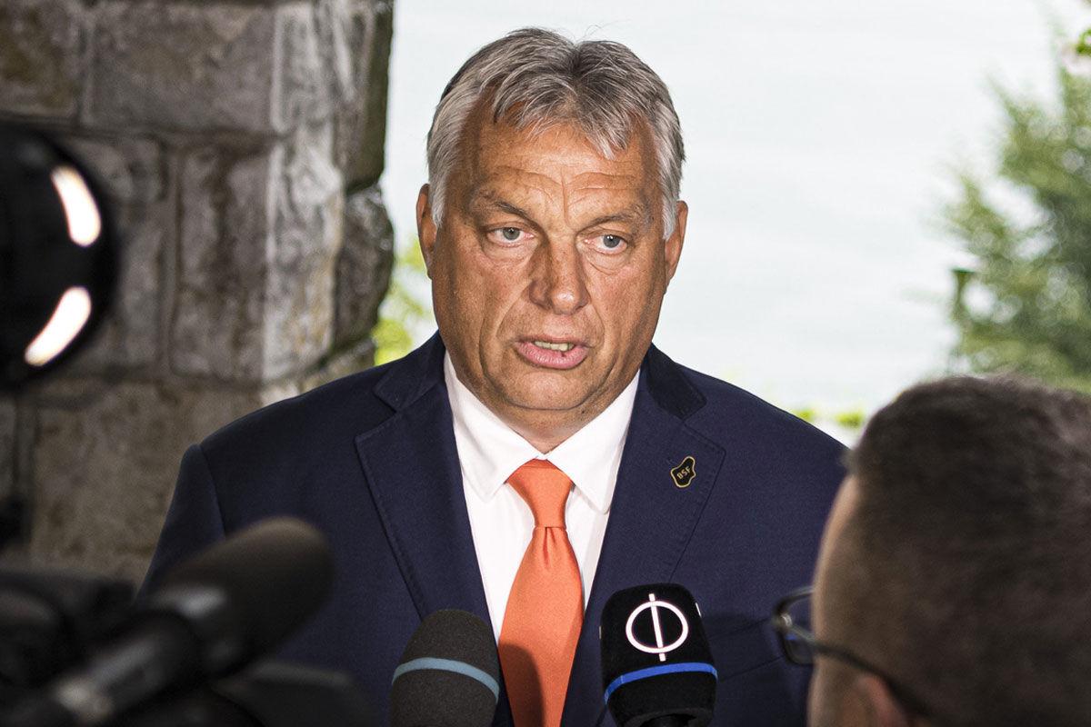 Orbán Viktor miniszterelnök nyilatkozik a sajtónak a 15. Bledi Stratégiai Fórumon 2020. augusztus 31-én.