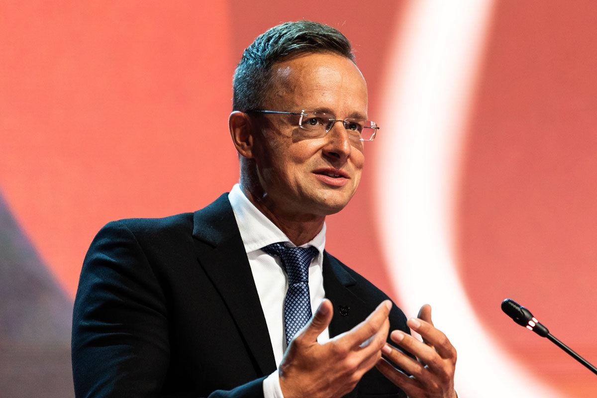 Szijjártó Péter külgazdasági és külügyminiszter felszólal a 15. Bledi Stratégiai Fórum nemzetközi konferencián 2020. augusztus 31-én.