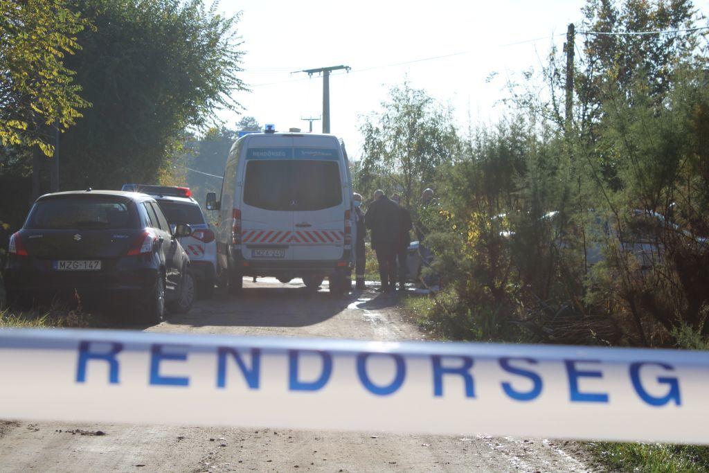 A gyilkosság helyszíne a rendőrség fotóján.