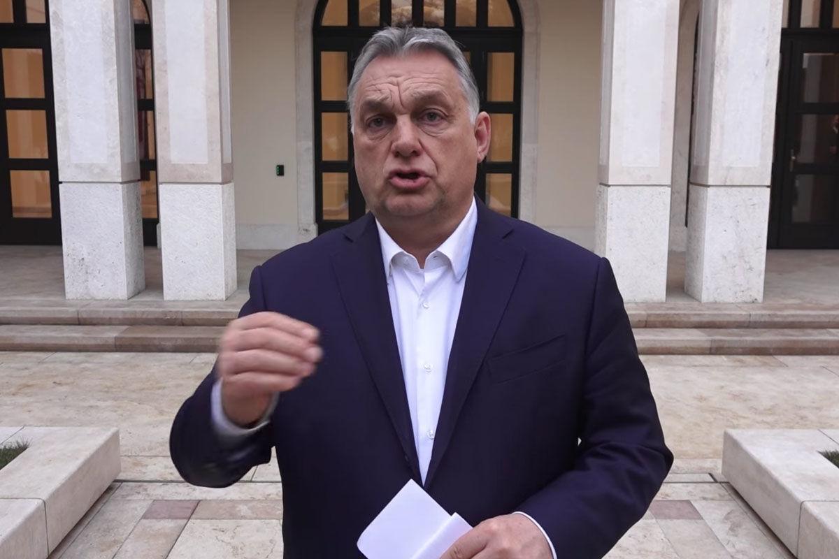 Orbán Viktor tájékoztat 2021. február 23-án.