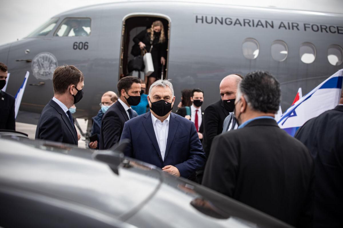 Orbán Viktor Jeruzsálemben 2021. március 11-én.