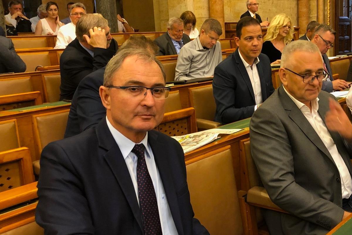 Hubay György (balra), a Fidesz országgyűlési képviselője.
